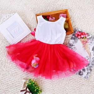 Other - Beautiful Red Rose Petal Dress 2T